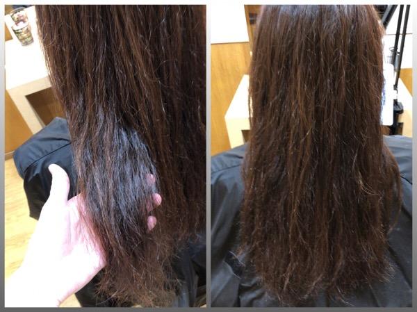 パーマの失敗での傷み&クセで広がる髪を柔らかい縮毛矯正で自然なストレートスタイルへ   【北千住 上野 縮毛矯正 】