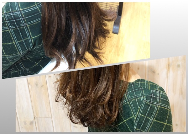 傷みやすいパサつくクセ毛をハリのあるしなやかなストレートに  【 北千住 縮毛矯正 トリートメント 】